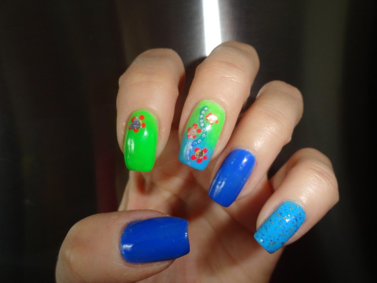 ad3ca03c040ae2 Sisters Nails: NIEBIESKO - ZIELONE CZYLI WIOSNA TRWA:)