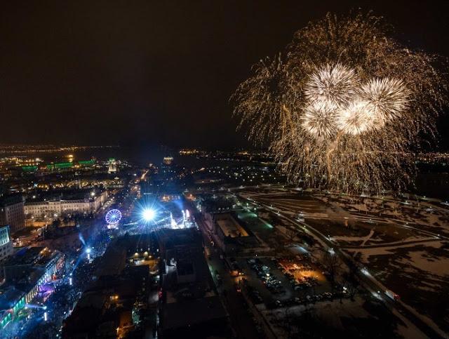 Québec Grande-Allée nouvel an veille