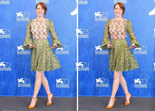 Эмма Стоун в зеленом платье