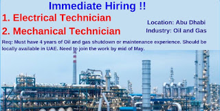 Recruitment For ITI and Diploma Holders For  Electrical Commissioning Technicians Position in Oil and Gas Company based in Abu Dhabi