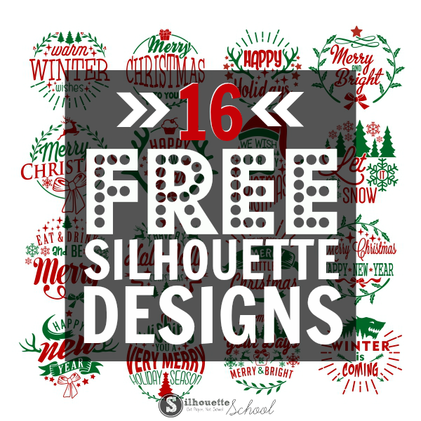 silhouette designs free christmas pack commercial files