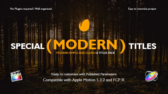 Videohive Special Modern Titles Pack For Fcpx 20708205 Apple