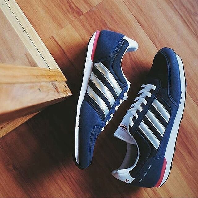 be315b30d Adidas Neo City Racer - Navy White Silver