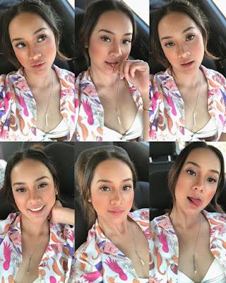 10 Photo Hot Anya Geraldine Pose Eksis Pakai Baju Seksi, Nampak Belahan Dada