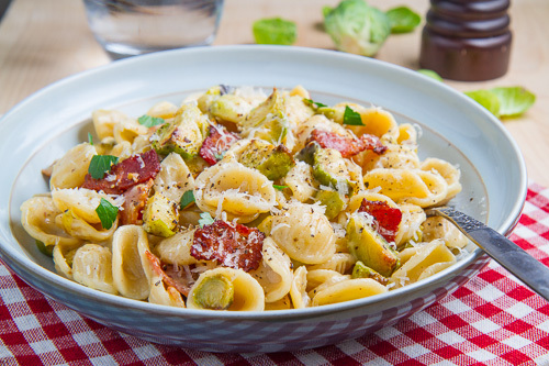 Roasted Brussels Sprout Carbonara
