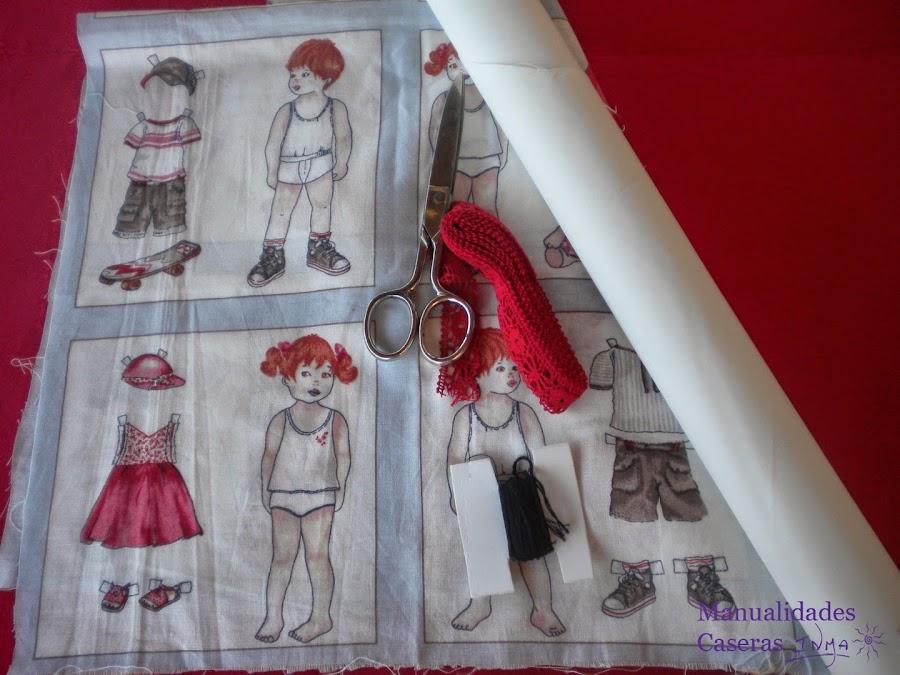 Manualidades Caseras Faciles Camisetas decorados con tela de recortables
