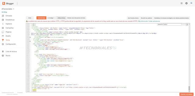 Editor HTML Blogger