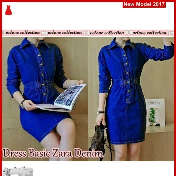 MSF0148 Model Dress Basic Murah Zara Denim BMG