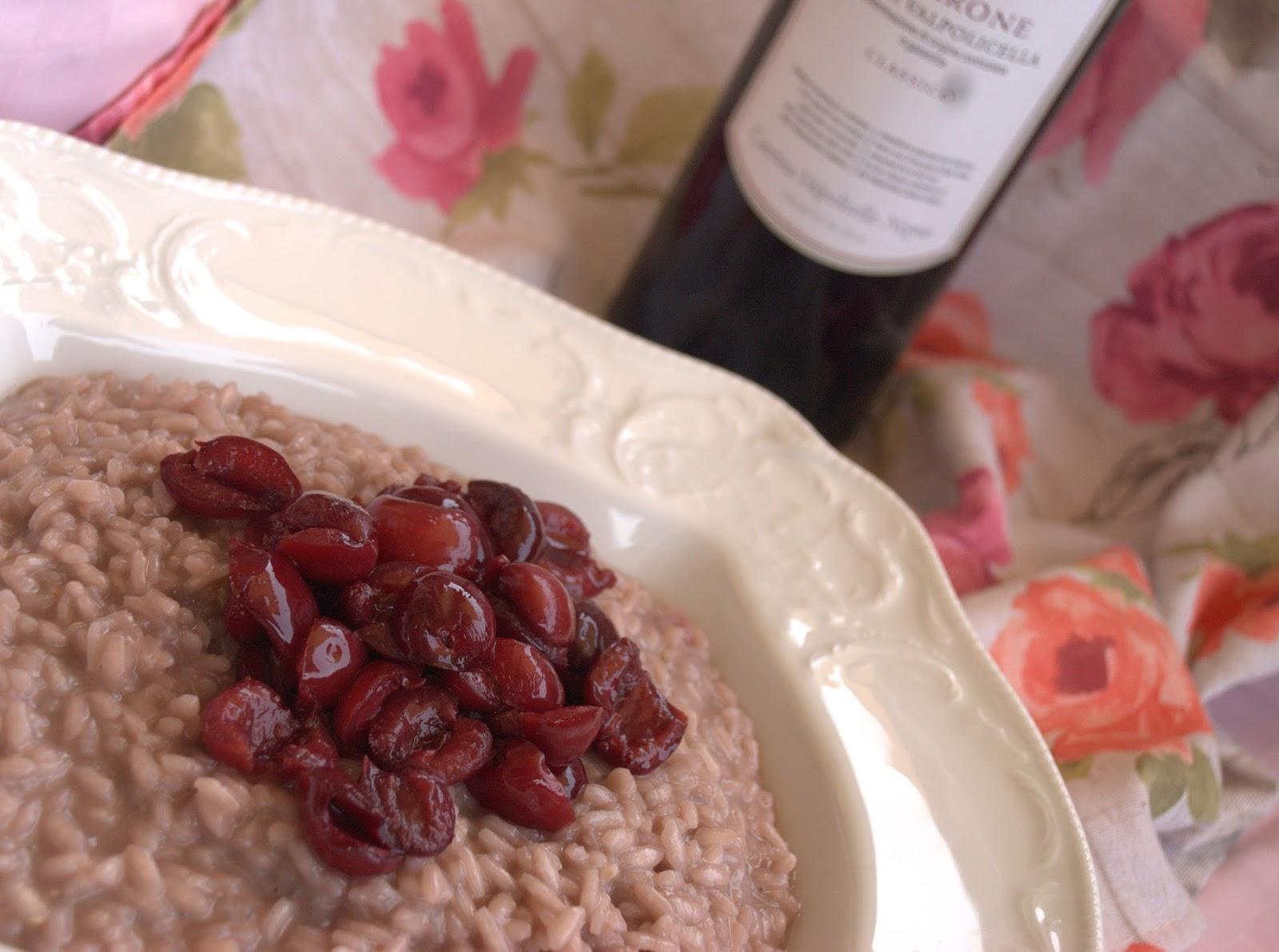 la gallina vintage: Risotto all' Amarone e ragù di ciliegie