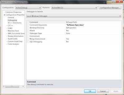 Visual Studio Console App Configuration