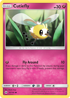 Cutiefly Sun and Moon Pokemon Card