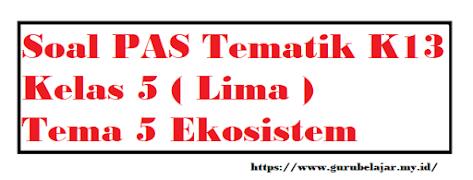 Soal PAS K13 Kelas 5 Tema 5 Ekosistem