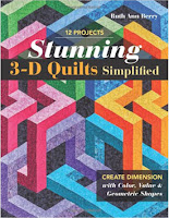 3D quilts on a book cover