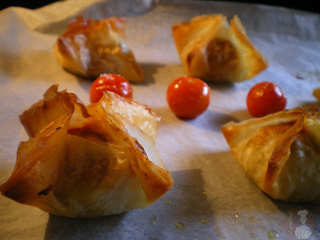 Bombones crujientes de bacalao con patatas: Recién horneados