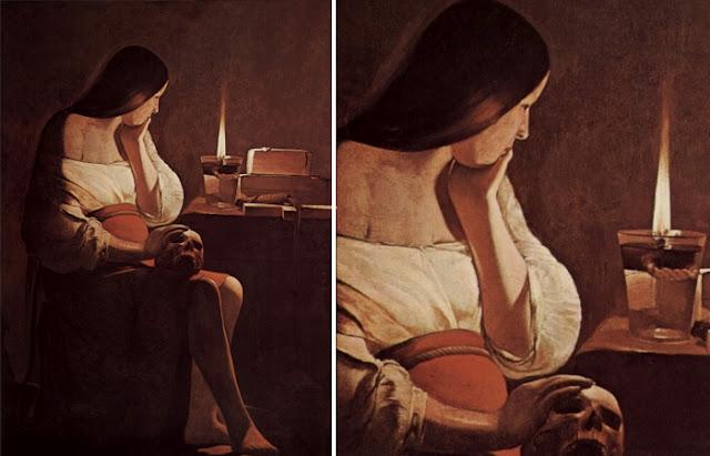 """""""Maria Madalena e a chama"""", de Georges de Latour (1638-1640)"""