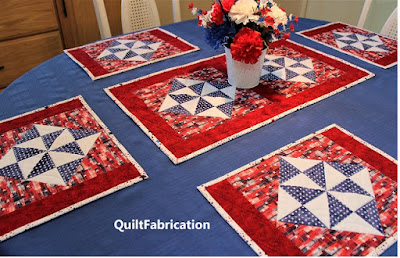 Holiday Star place mats and table runner by QuiltFabrication