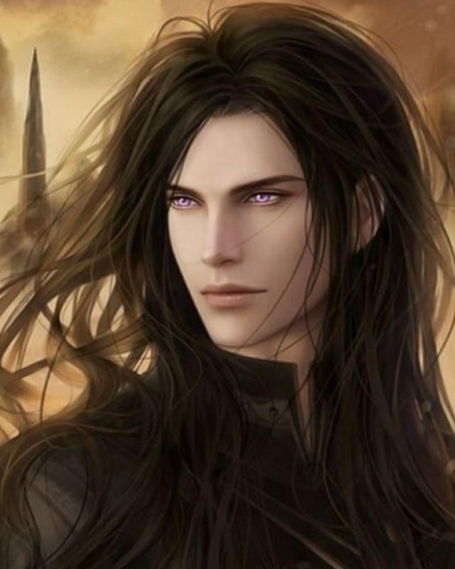 Anime male's long hair, hairstyle