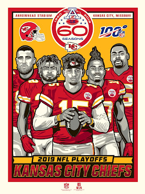 Kansas City Chiefs 2019 Post Season Screen Print by Stolitron x Phenom Gallery x NFL