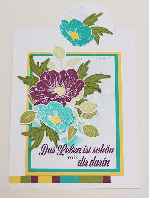 5 Tage - 5 Challenges: Eine blumige Geburtstagskarte Stampin' Up! www.eris-kreativwerkstatt.blogspot.de