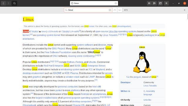 Wike Wikipedia Reader para Linux: utilícelo para leer sin distracciones