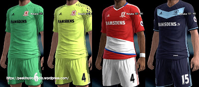 PES 2013 Middlesbrough kits 2016-2017 by Syirojuddin