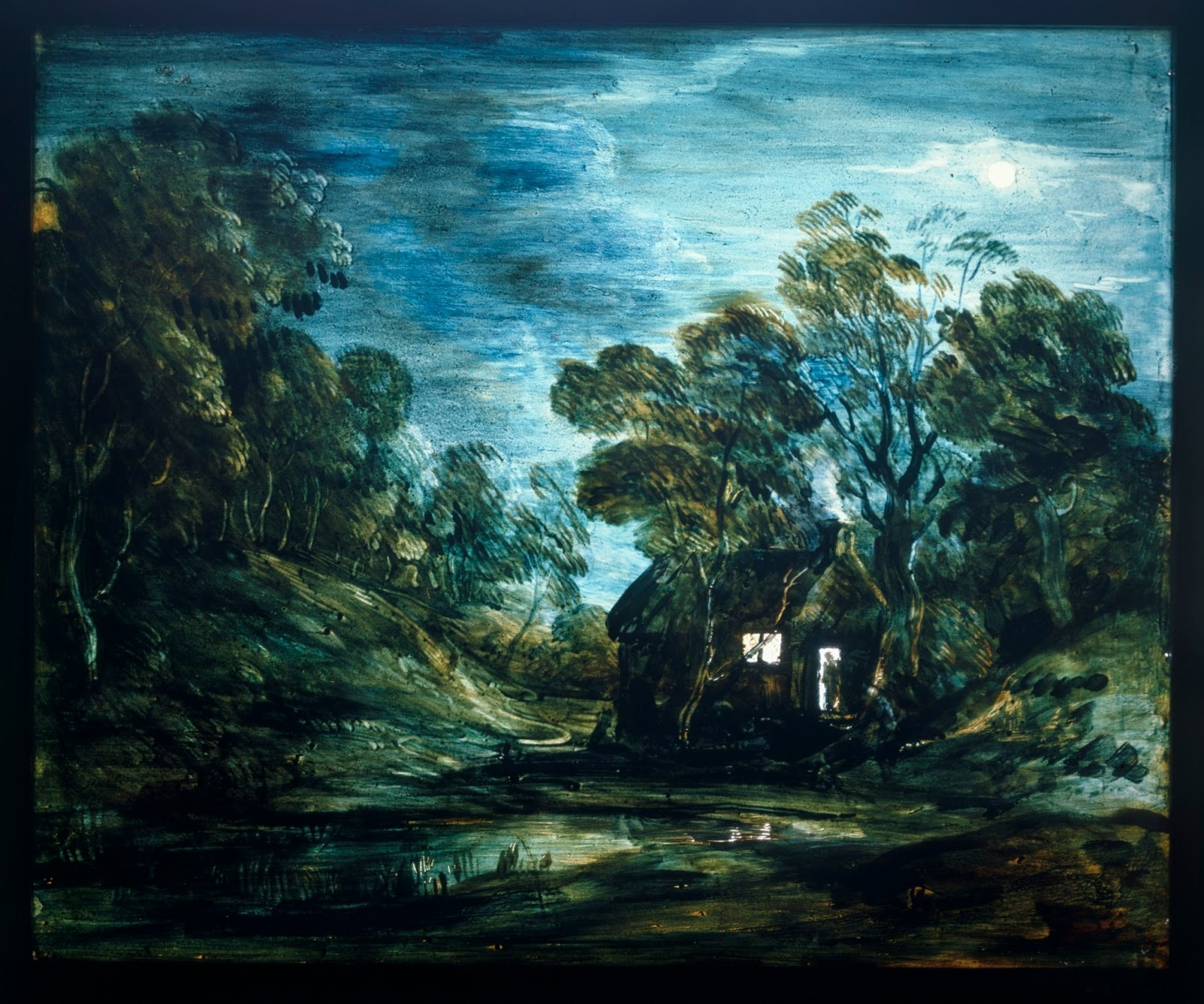 sauvage27 PAESAGGI SU VETRO Landscapes on glass  Thomas Gainsborough