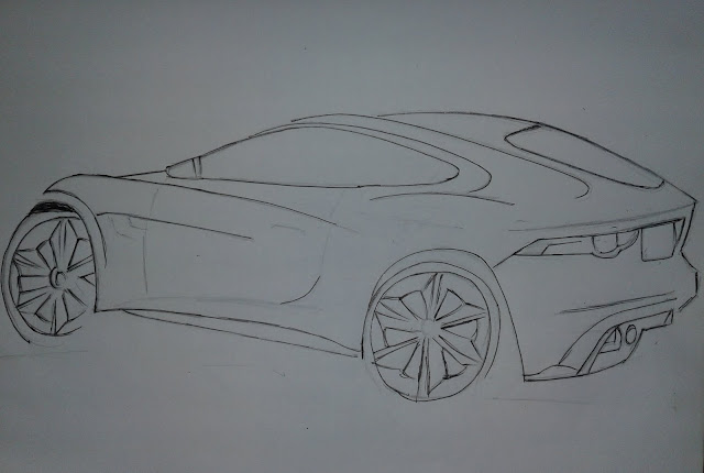 how to draw sports car