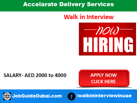 Accelarate Delivery Services career for Bike Riders jobs in Dubai UAE