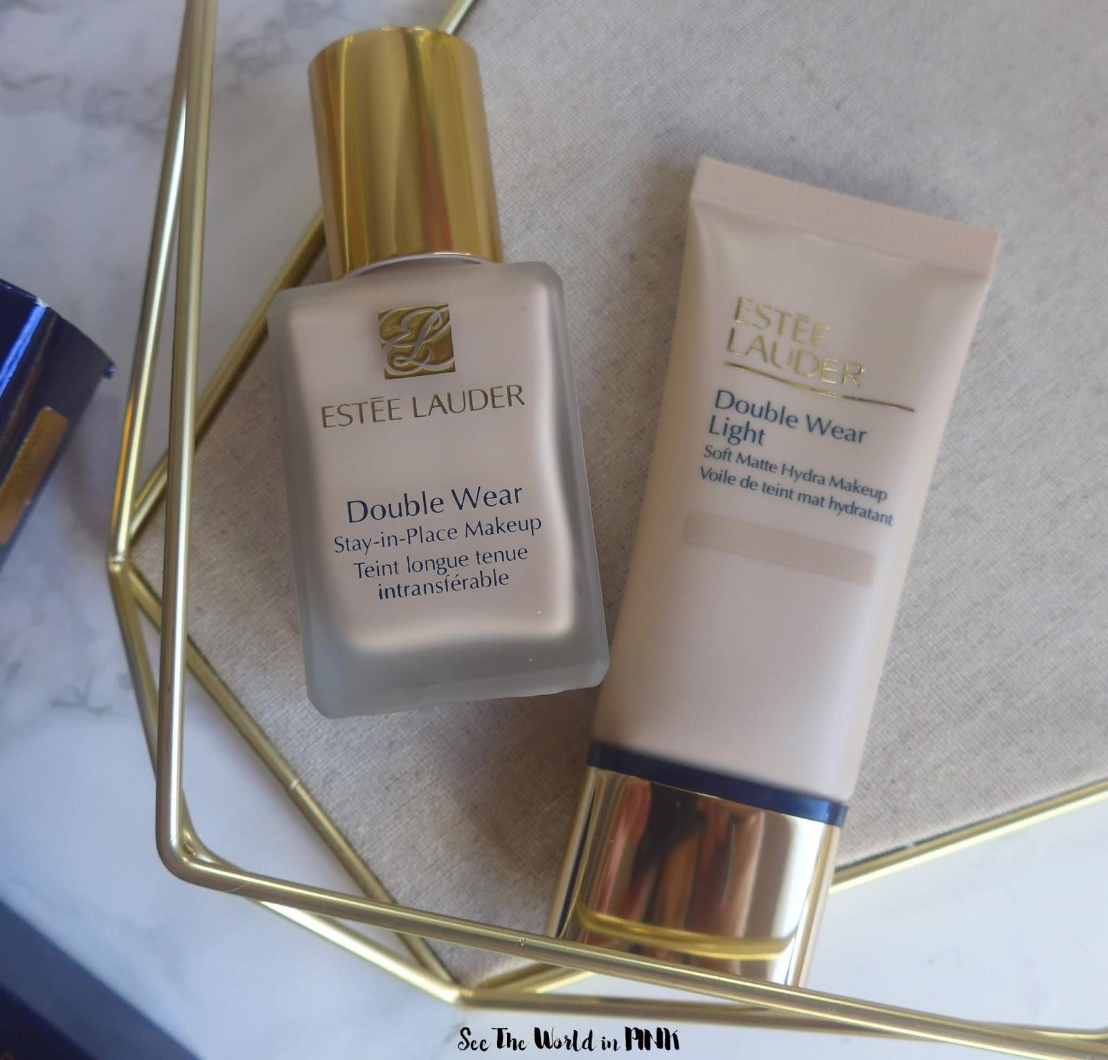 Foundation Showdown - Estee Lauder Double Wear Stay-in-Place Makeup vs. Double Wear Light Soft Matte Hydra Makeup