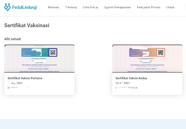 Download Sertifikat Vaksinasi Covid-19 Tanpa Login