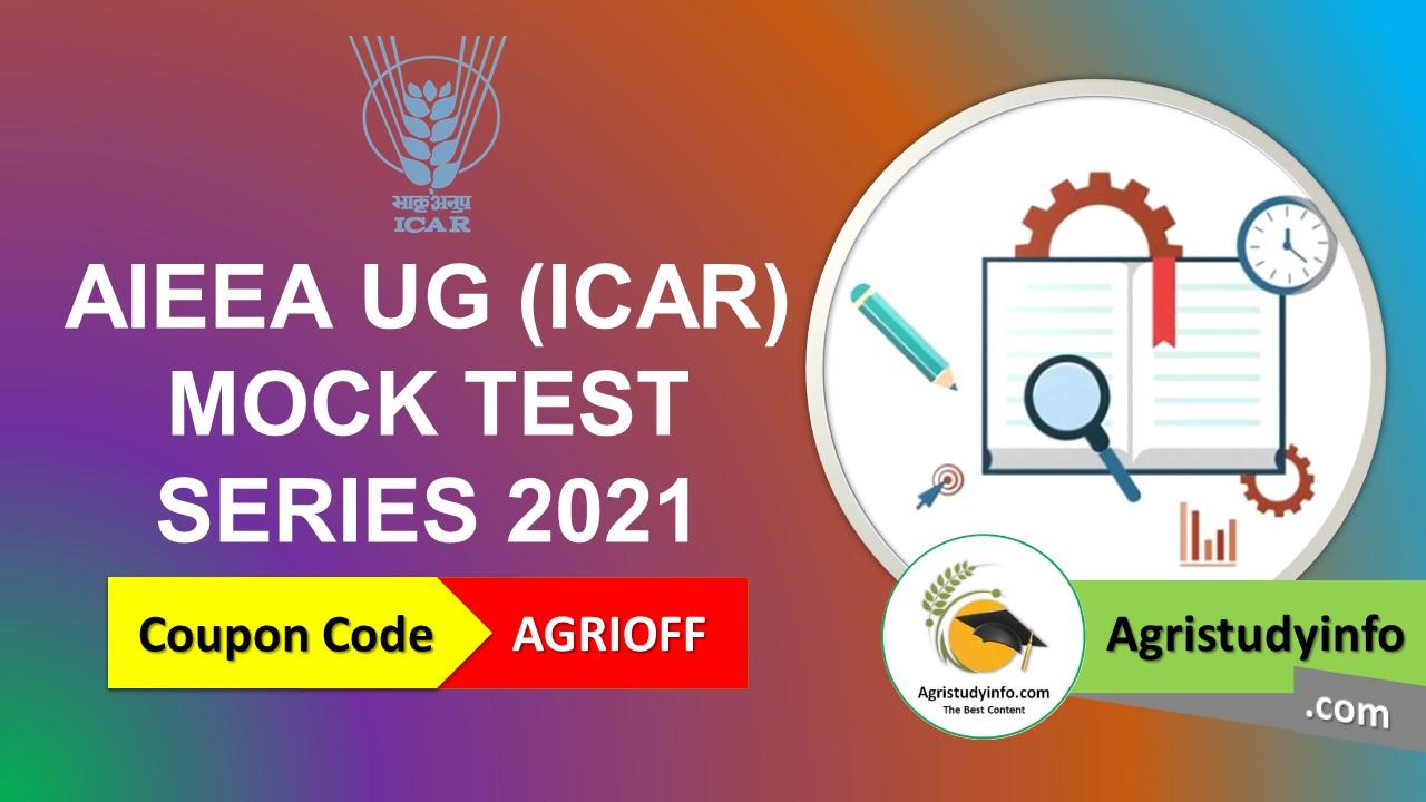 ICAR UG Mock Test series 2021
