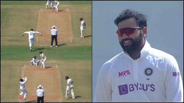 भज्जी के बोलिंग ऐक्शन की नकल से गेंदबाजी करते दिखे रोहित शर्मा