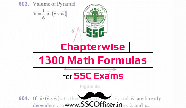 All Chapter wise 1300 Advance Math Formulas for SSC Exam [Download PDF] - SSC Officer