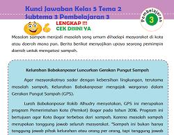 Kunci Jawaban Kelas 5 Tema 2 Subtema 3 Pembelajaran 3 www.simplenews.me
