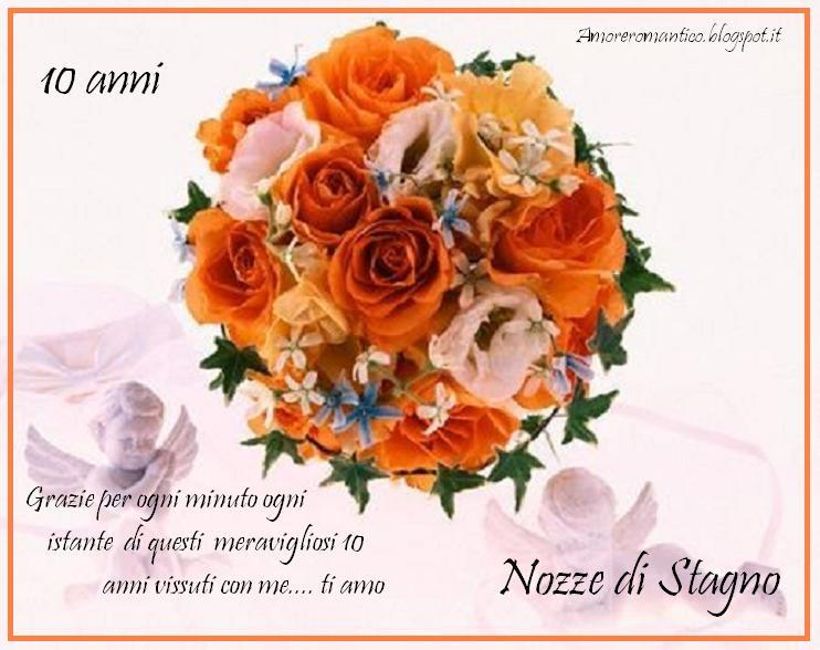 Auguri Anniversario Matrimonio 10 Anni.Amore Romantico 10 Anni Di Matrimonio Nozze Di Stagno