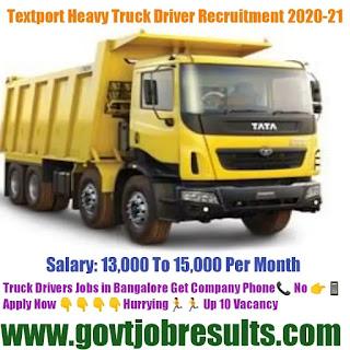 Text port Industeries Truck Driver Recruitment 2020-21