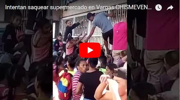 Pueblo hambriento intentó saquear comercio en Vargas