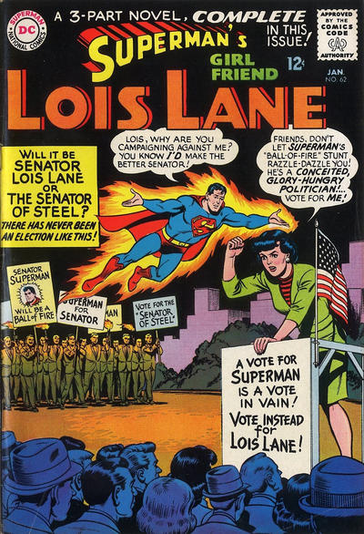 Episode #391 Part II: Superman Family Comic Book Cover Dated January 1966: Superman's Girl Friend Lois Lane #62!