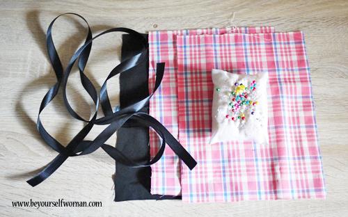 bahan membuat masker kain dengan tali adjustable dan tempat tissue