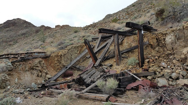 Exploring abandoned mines and beautiful desert landscape along Route 66 in Arizona
