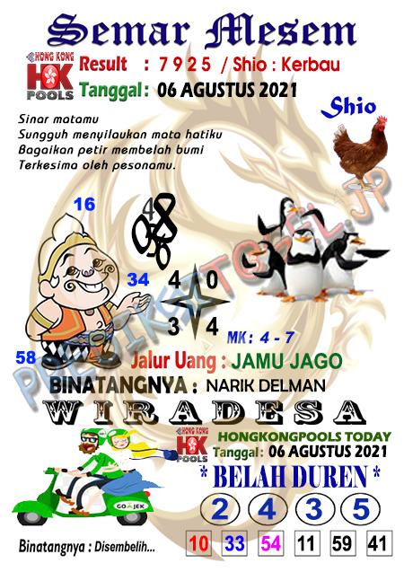 Syair Semar Mesem HK Malam Ini 06-Agt-2021