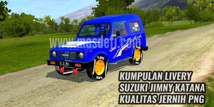 10 Livery MOD BUSSID Suzuki Jimny Katana Kualitas PNG Jernih
