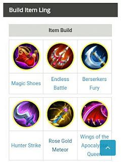 Build Item Tersakit Hero Ling Terbaru Mobile Legend