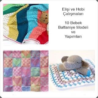 Örgü Bebek Battaniye Modelleri - Tığ işi Battaniye Modelleri