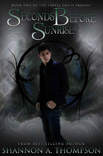 Seconds Before Sunrise by Shannon A. Thompson, To be Read, paranormal, fantasy