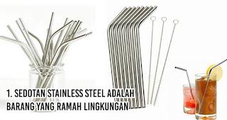 Sedotan Stainless Steel adalah Barang Yang Ramah Lingkungan merupakan salah satu alasan penting mengapa kita harus gunakan sedotan non-plastik