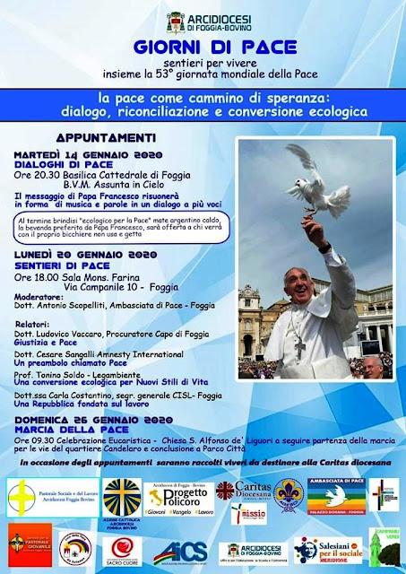 """""""Giorni di Pace"""", a Foggia per la 53esima Giornata Mondiale della Pace"""