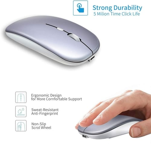 Review ASOI Slim Silent Rechargeable PC Wireless Mouse