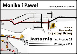 Mapka dojazdu w formie schematu