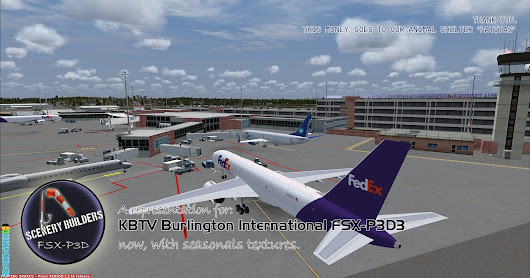 KBTV Burlington International FSX-P3D3